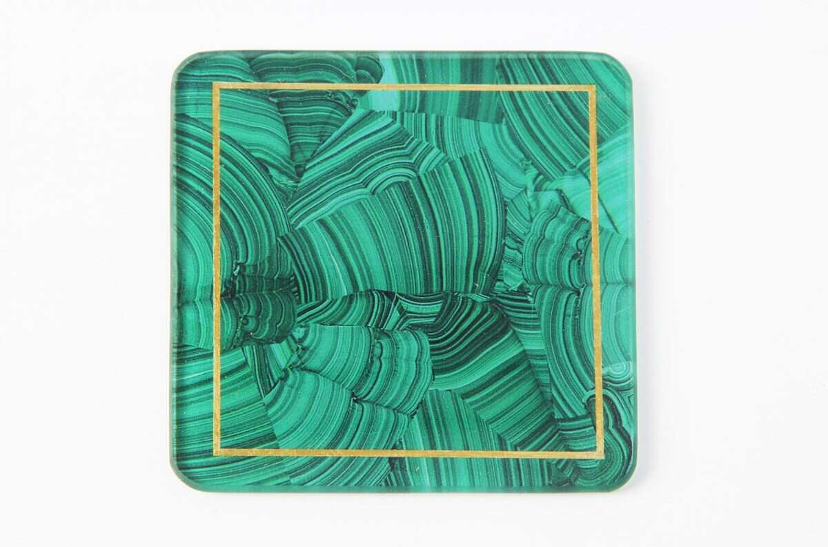 Malachite Drinks Coasters - Set of 4 by Forwood Design 2