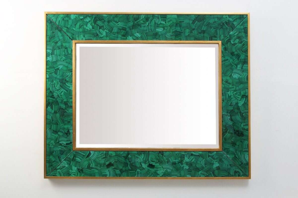 Alexandra Malachite Rectangular Mirror by Forwood Design 6