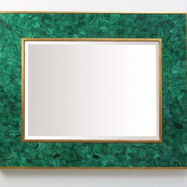 Alexandra Malachite Rectangular Mirror by Forwood Design 6