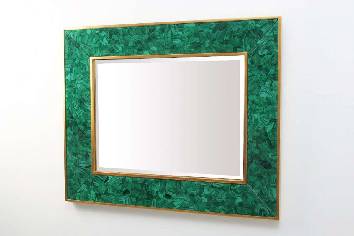 Alexandra Malachite Rectangular Mirror by Forwood Design 5
