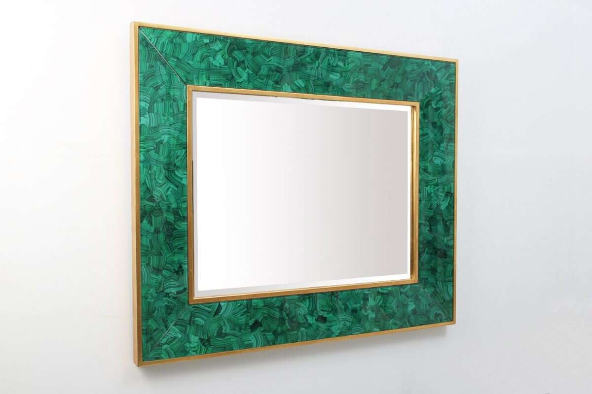 Alexandra Malachite Rectangular Mirror by Forwood Design 3