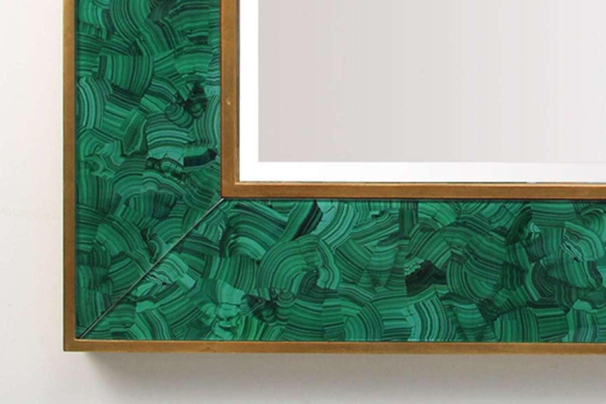 Alexandra Malachite Rectangular Mirror by Forwood Design 2