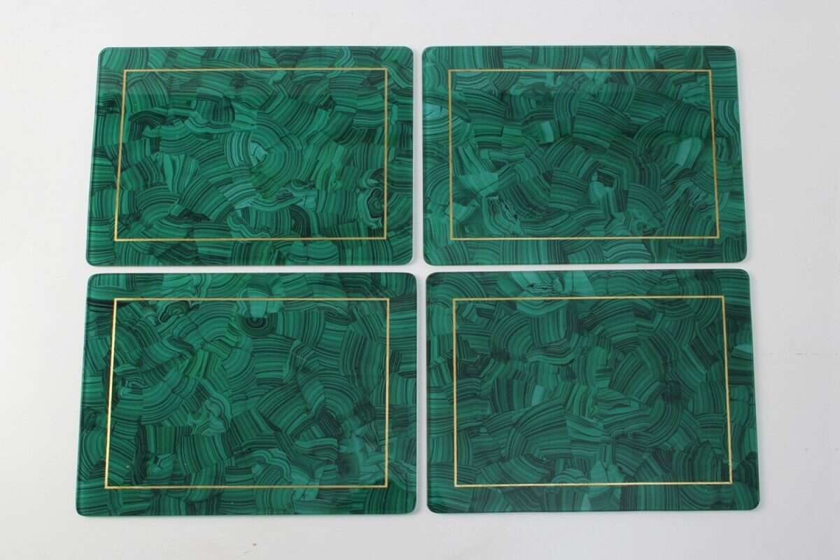 Malachite Place mats - Set of 4 by Forwood Design 2
