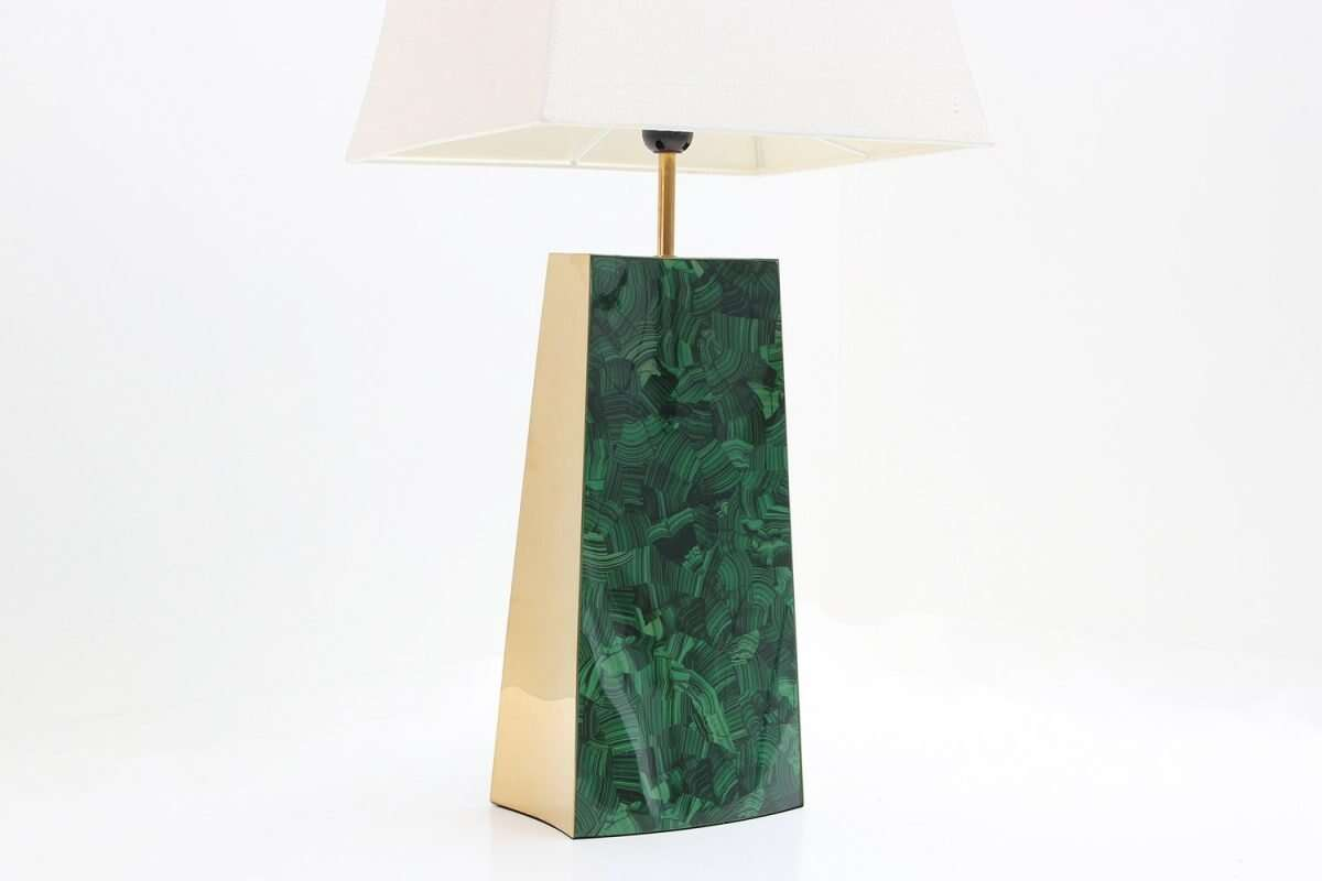 Gabby Malachite Table Lamp by Forwood Design 4