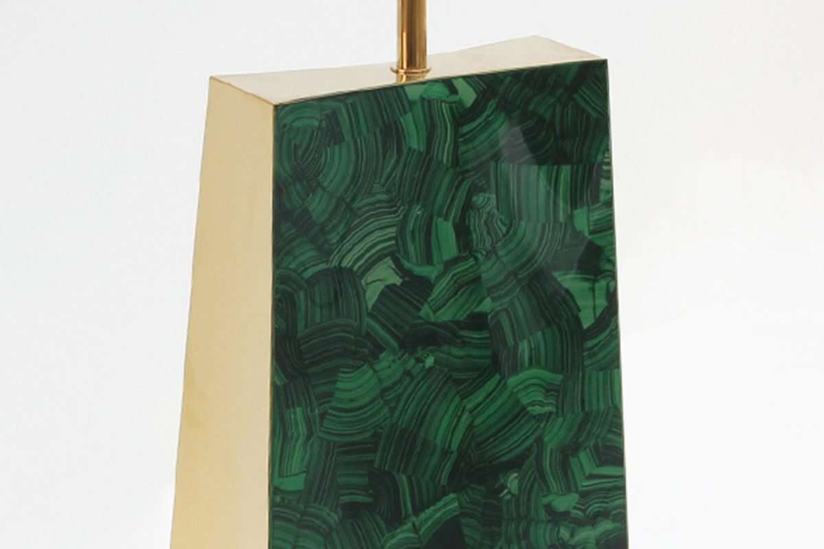 Gabby Malachite Table Lamp by Forwood Design 2