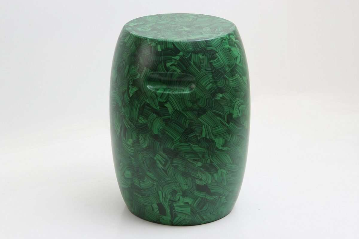 Malachite Stool / Drinks Table by Forwood Design 5