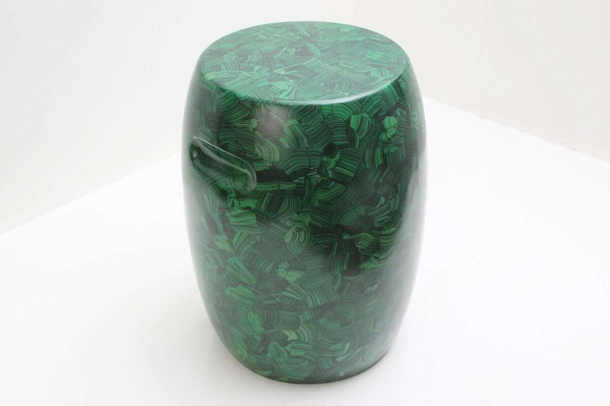 Malachite Stool / Drinks Table by Forwood Design 3