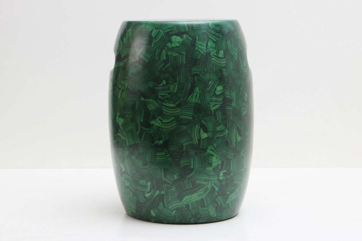 Malachite Stool / Drinks Table by Forwood Design 2