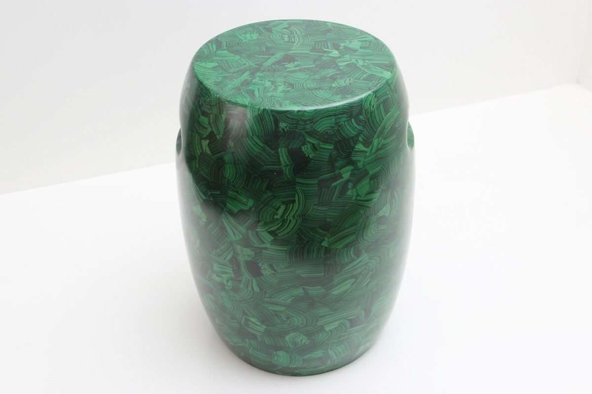 Malachite Stool / Drinks Table by Forwood Design 1