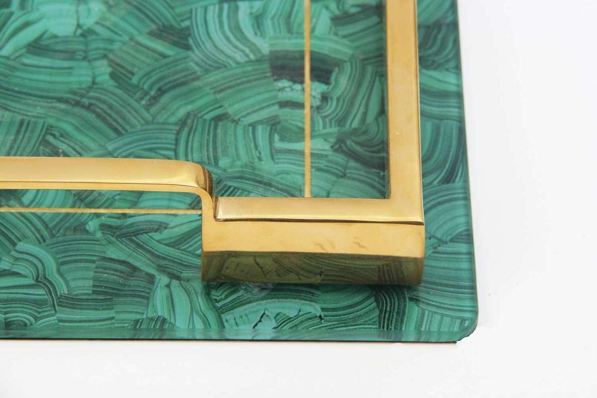 Alexandra Malachite Drinks Tray by Forwood Design 5