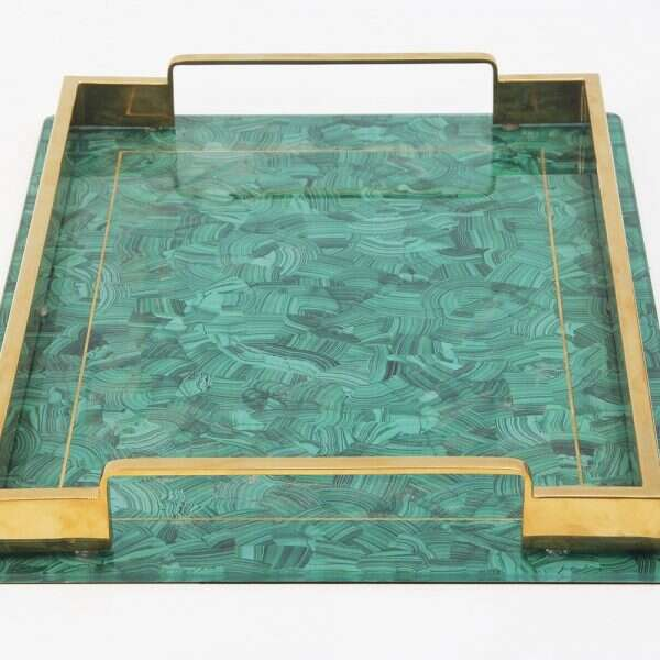 Alexandra Malachite Drinks Tray by Forwood Design 4