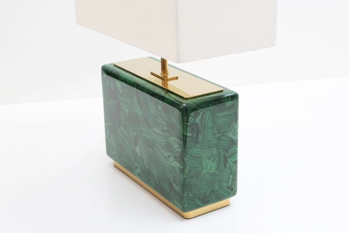 Malachite Table Lamp - Low by Forwood Design 5