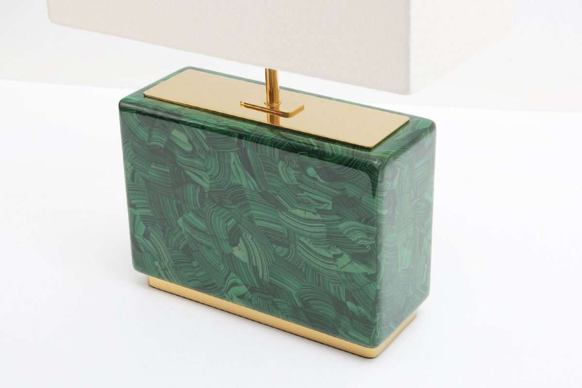 Malachite Table Lamp - Low by Forwood Design 4