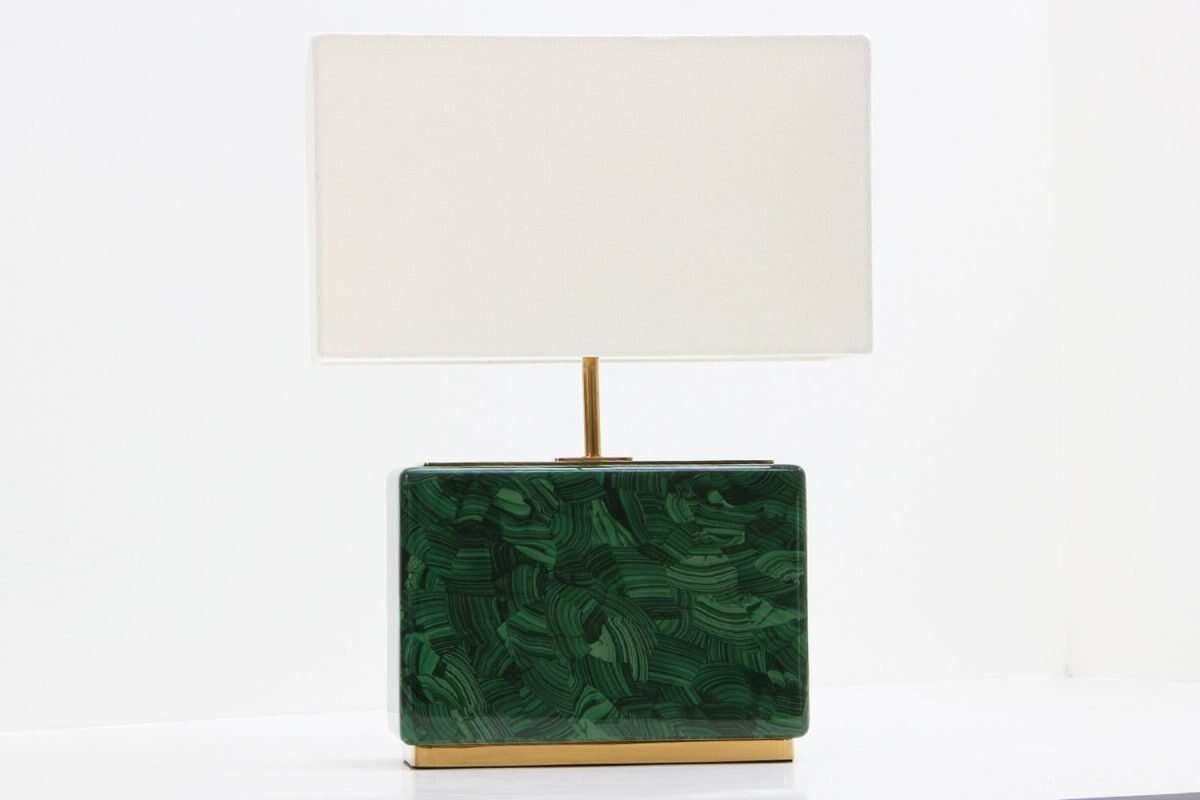 Malachite Table Lamp - Low by Forwood Design 2