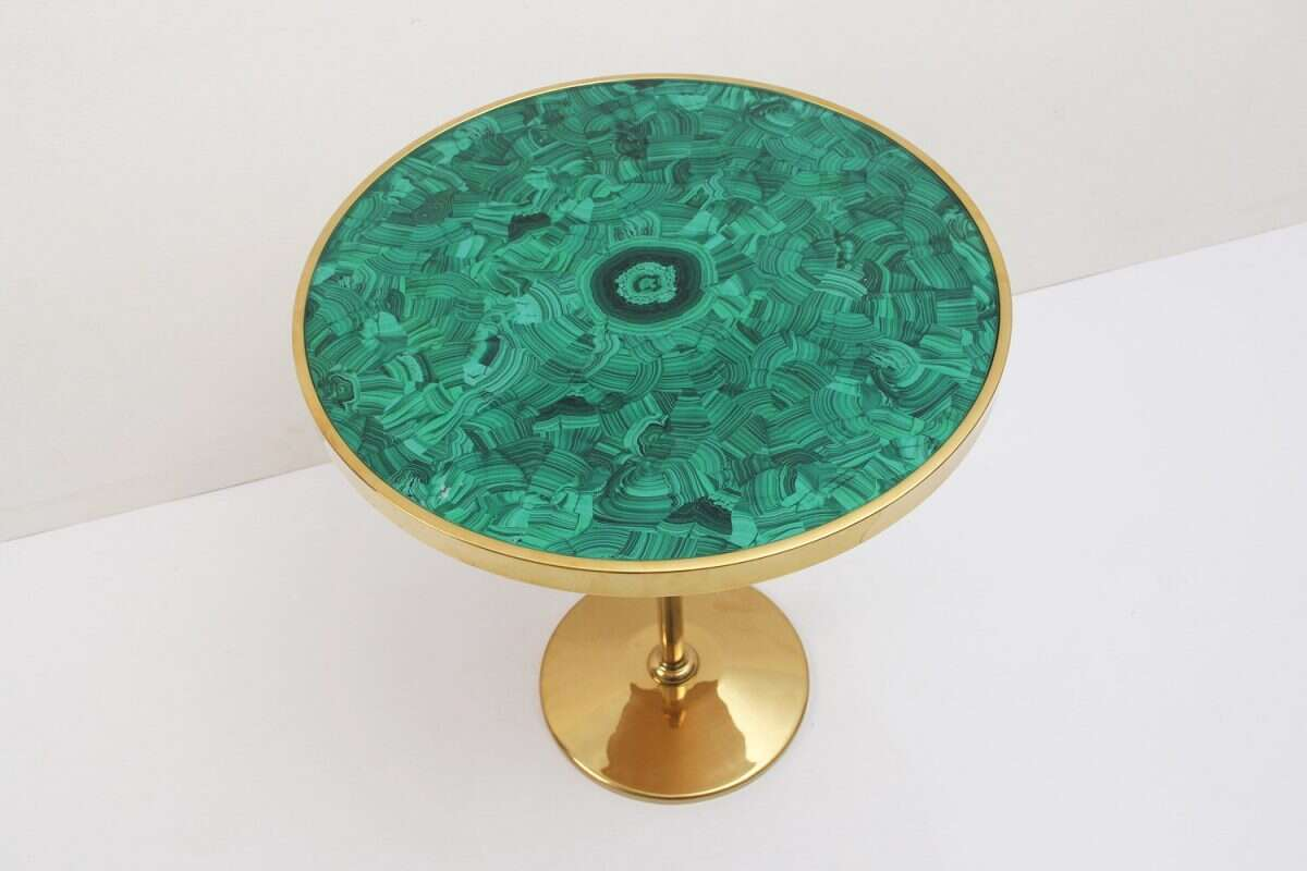 Malachite Alexandra Side Table by Forwood Design 5