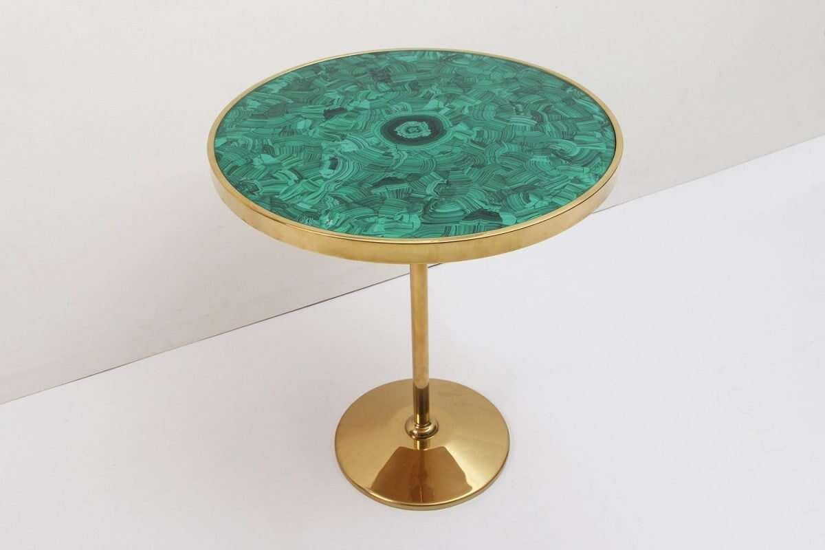 Malachite Alexandra Side Table by Forwood Design 4