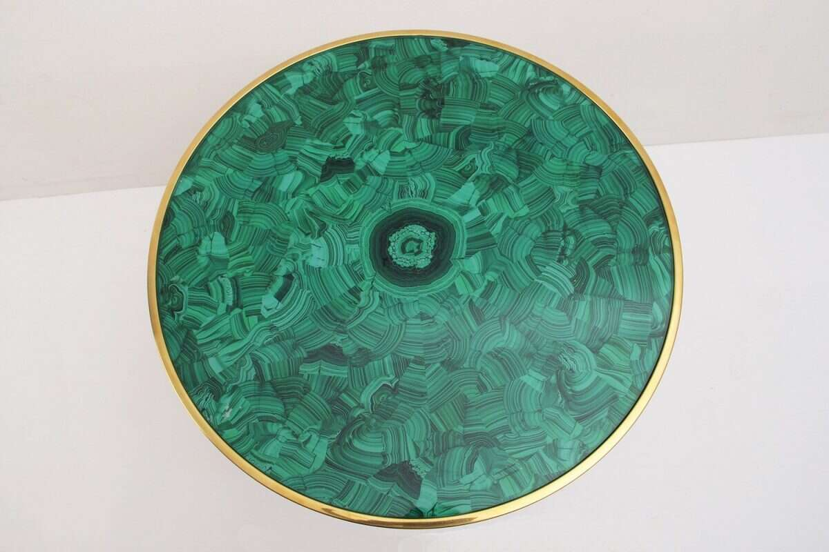 Malachite Alexandra Side Table by Forwood Design 3