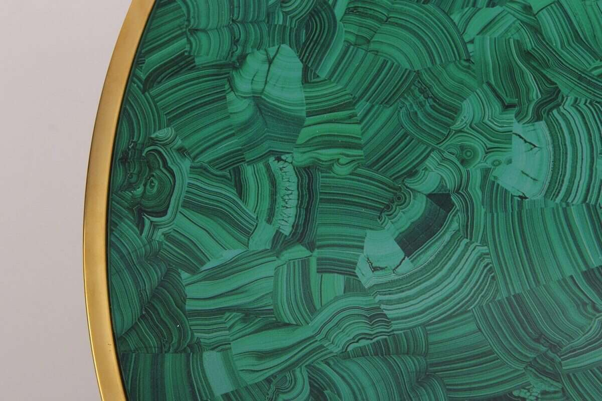 Malachite Alexandra Side Table by Forwood Design 2