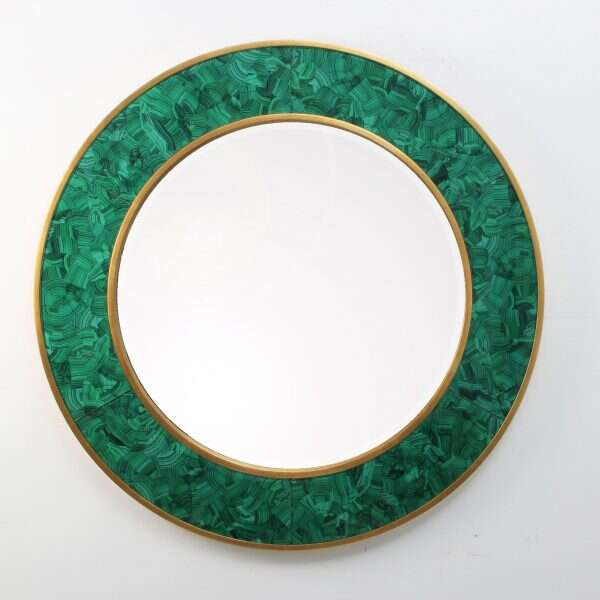 Alexandra Malachite Round Mirror by Forwood Design 5