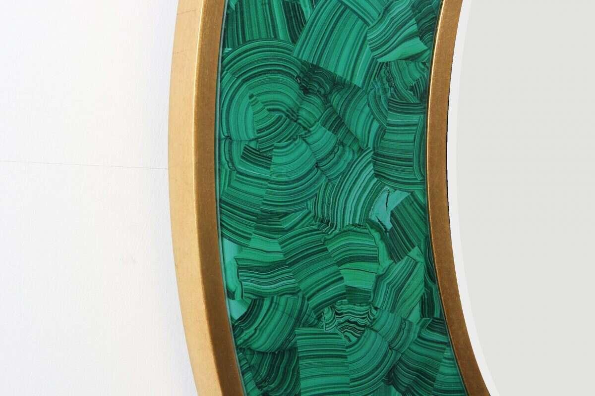 Alexandra Malachite Round Mirror by Forwood Design 4