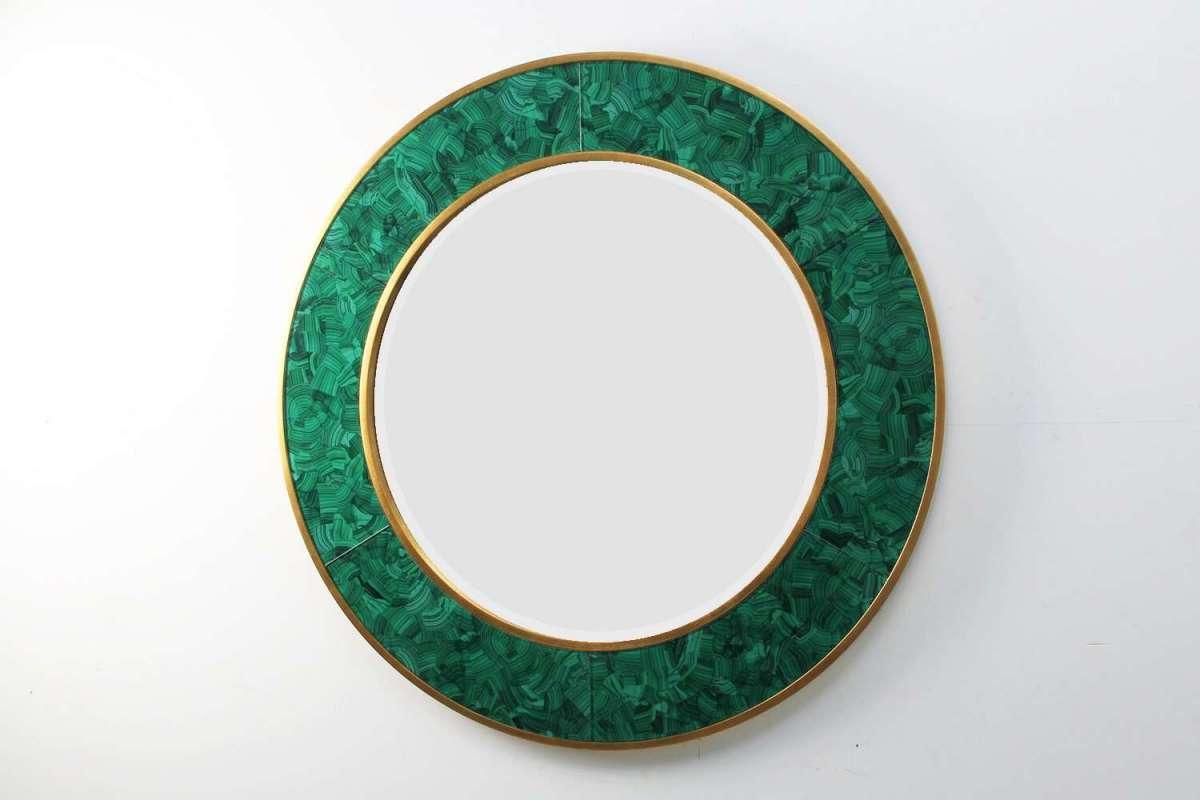 Alexandra Malachite Round Mirror by Forwood Design 3