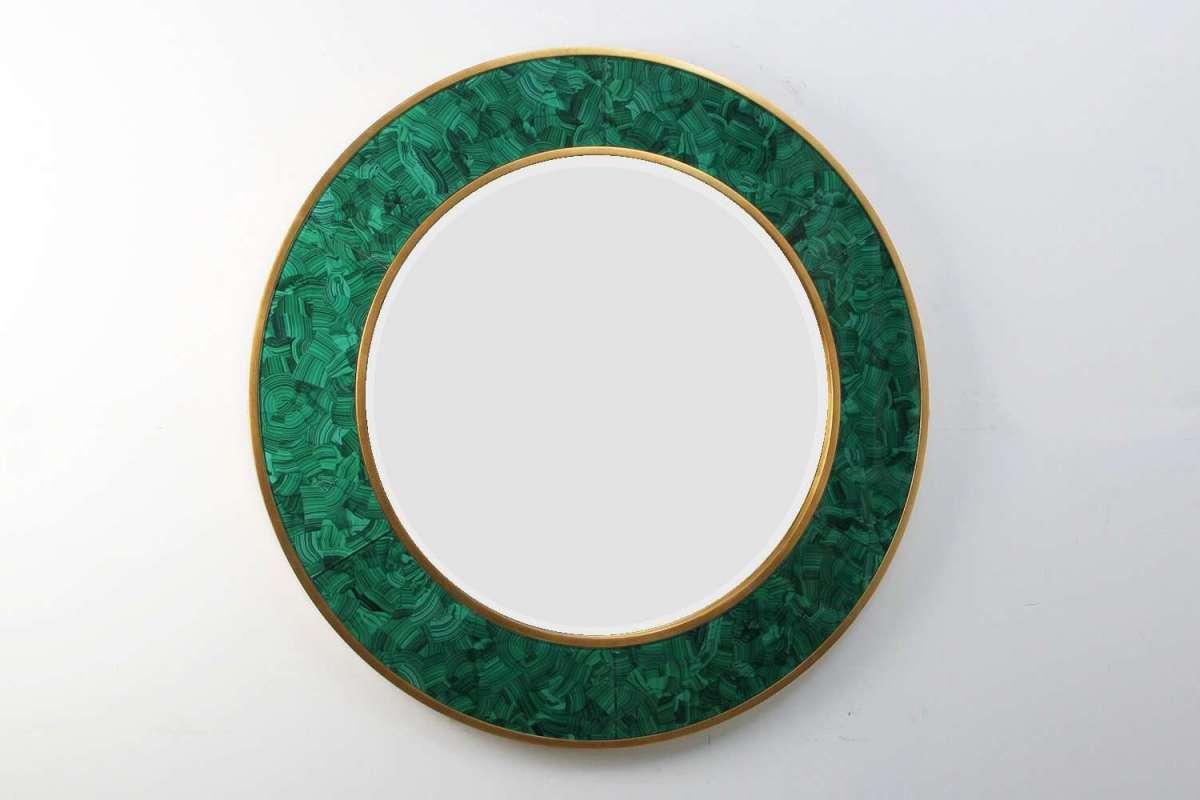 Alexandra Malachite Round Mirror by Forwood Design 2