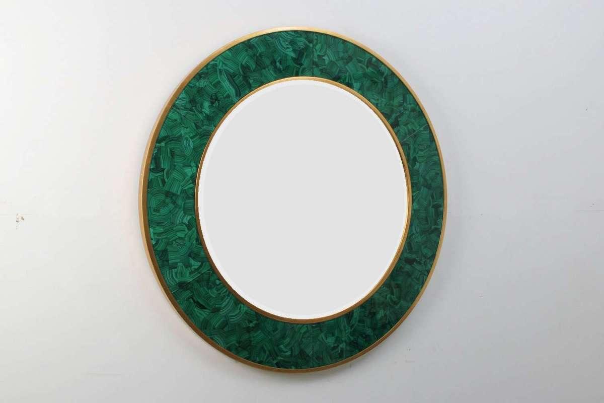Alexandra Malachite Round Mirror by Forwood Design 1