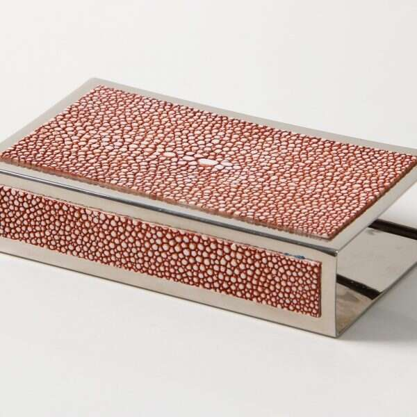 Matchbox Holders in Coral Shagreen by Forwood Design 9