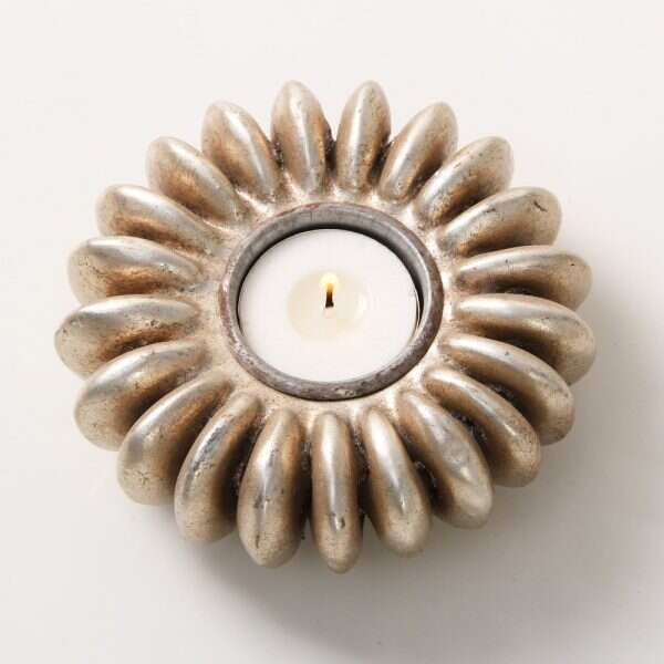 Sandbox Tree Seed tea light holders in antique silver 1