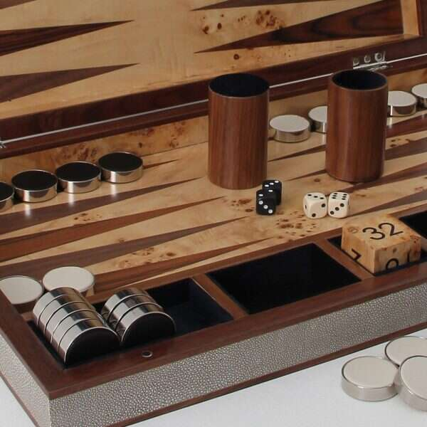 Luxury modern backgammon board
