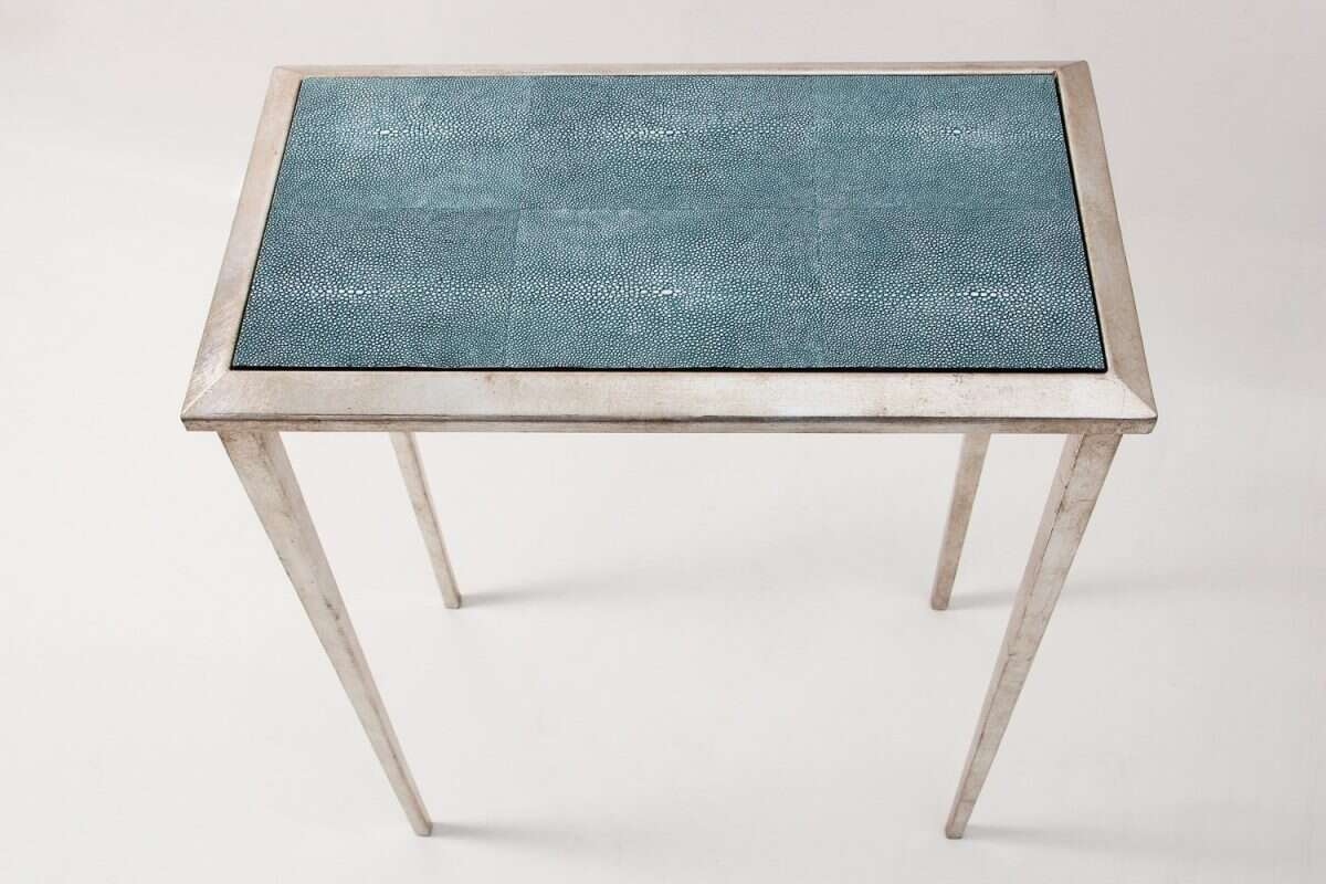 Ellie Shagreen Lamp Table by Forwood Design 4