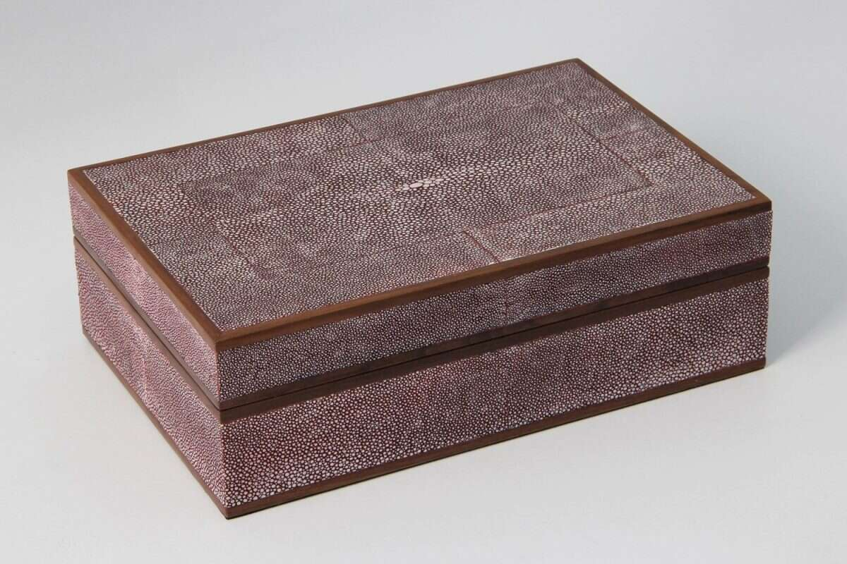 Ansley Jewellery Box in Mulberry Shagreen by Forwood Design 5