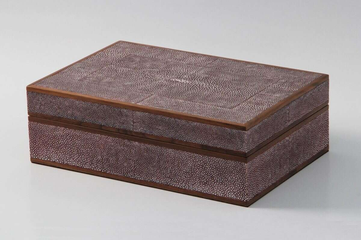 Ansley Jewellery Box in Mulberry Shagreen by Forwood Design 4