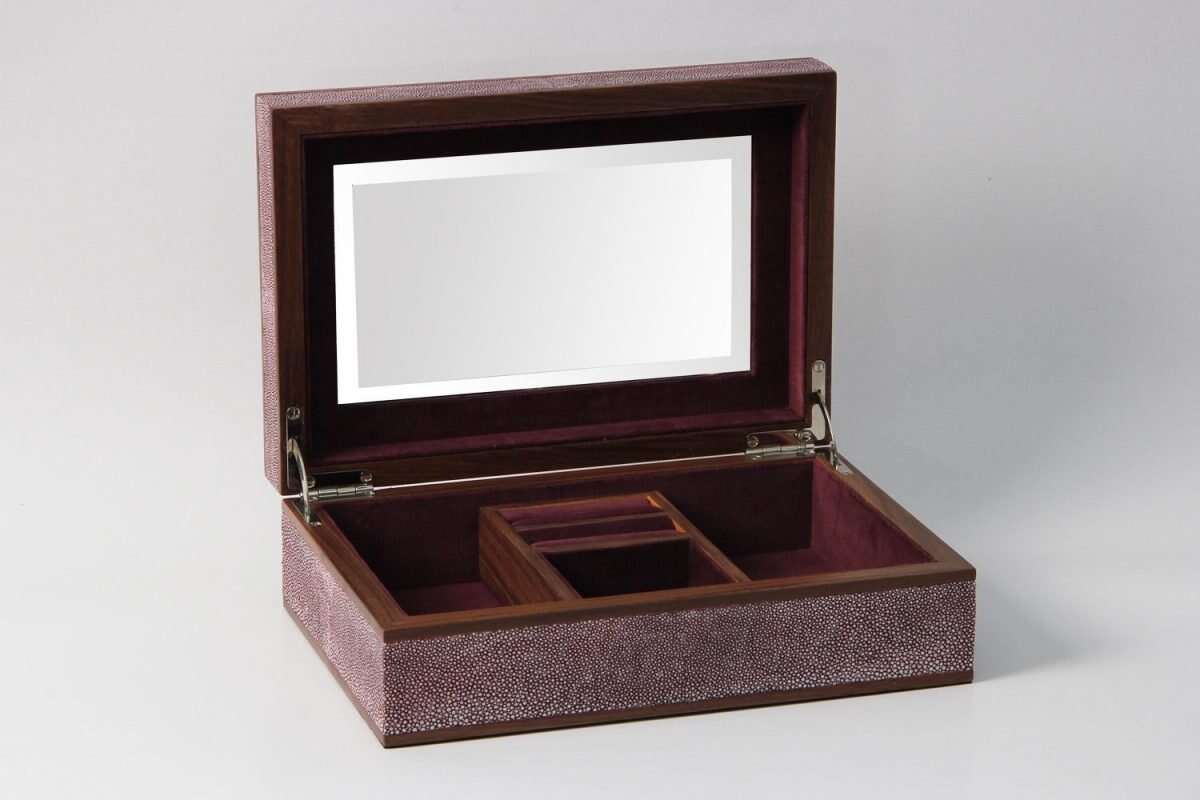 Ansley Jewellery Box in Mulberry Shagreen by Forwood Design 2