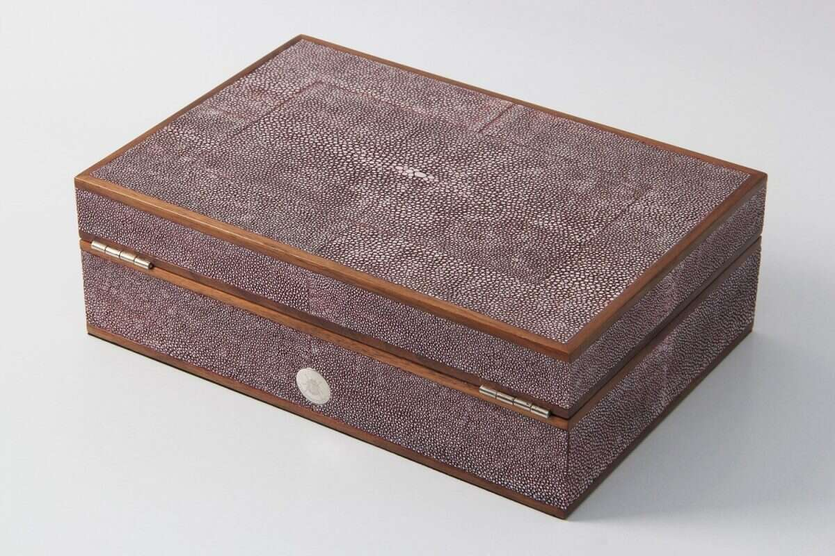 Ansley Jewellery Box in Mulberry Shagreen by Forwood Design 1