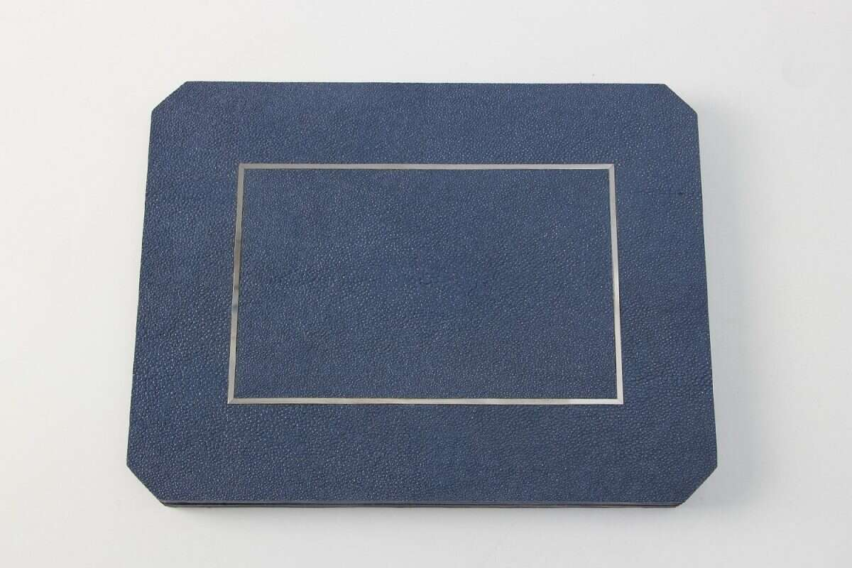 Nile Blue Shagreen Place mats by Forwood Design 2