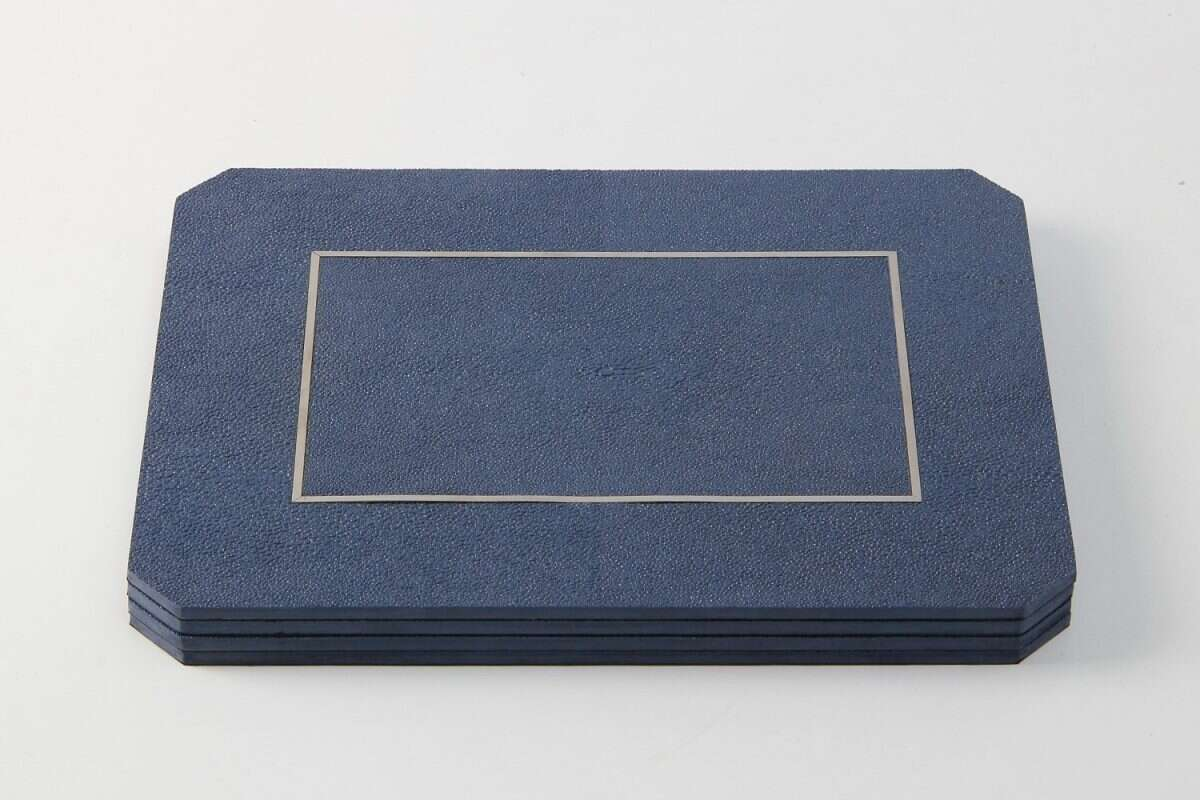 Nile Blue Shagreen Place mats by Forwood Design 3