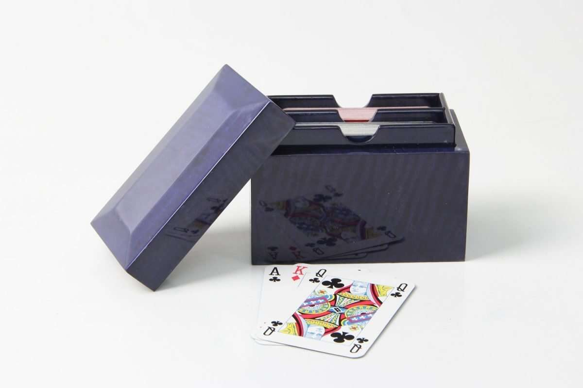 Playing Card Box in Periwinkle Blue 4