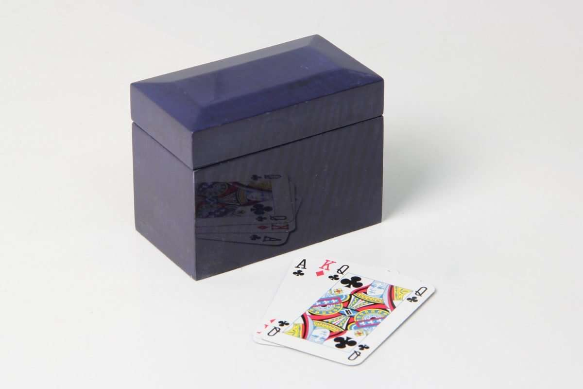 Playing Card Box in Periwinkle Blue 2