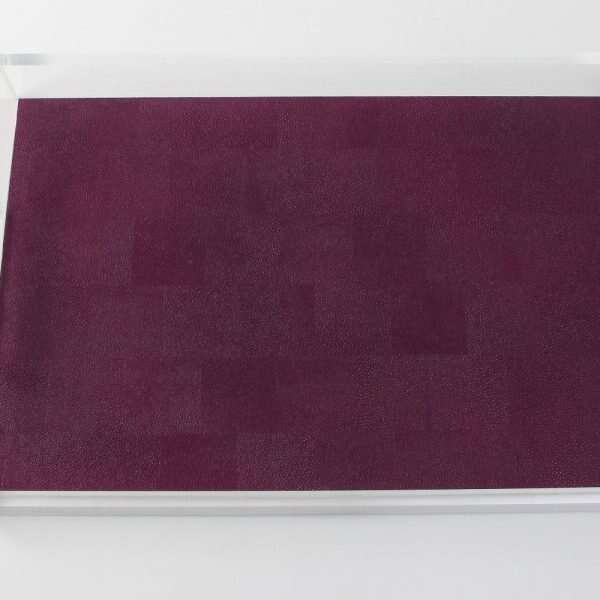 Acrylic Tray in Plum Shagreen by Forwood Design 6