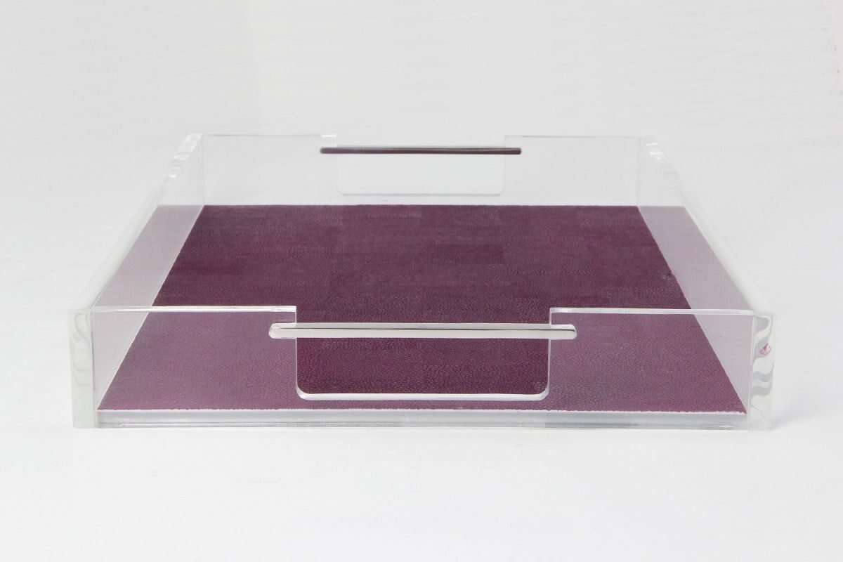 Acrylic Tray in Plum Shagreen by Forwood Design 5