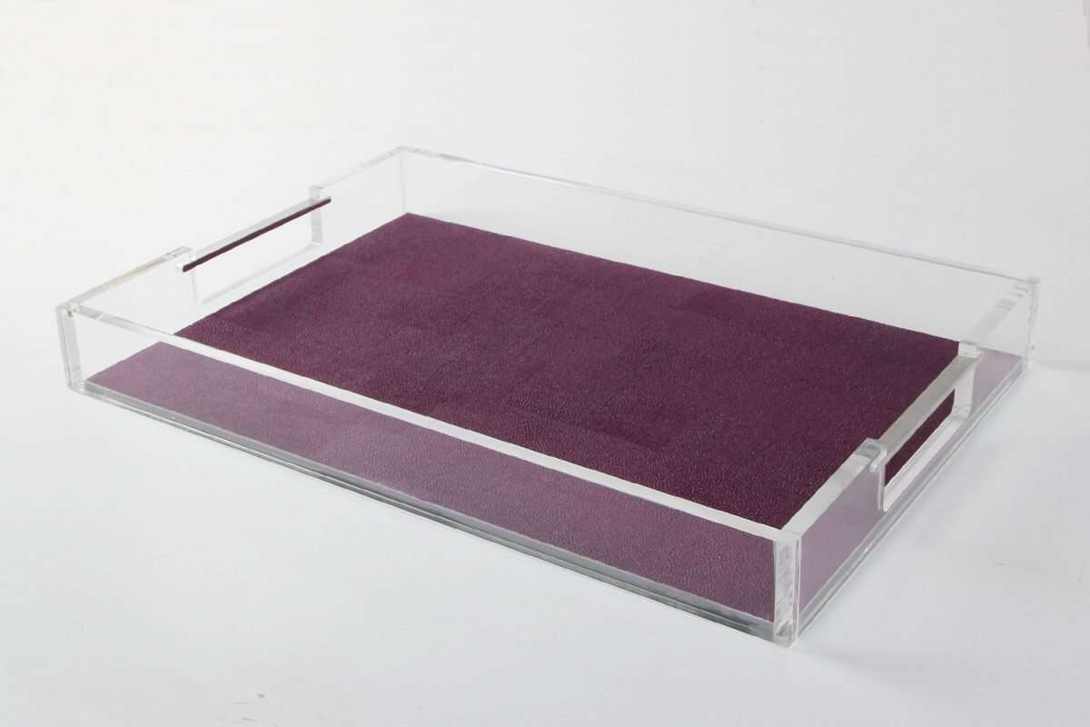 Acrylic Tray in Plum Shagreen by Forwood Design 4