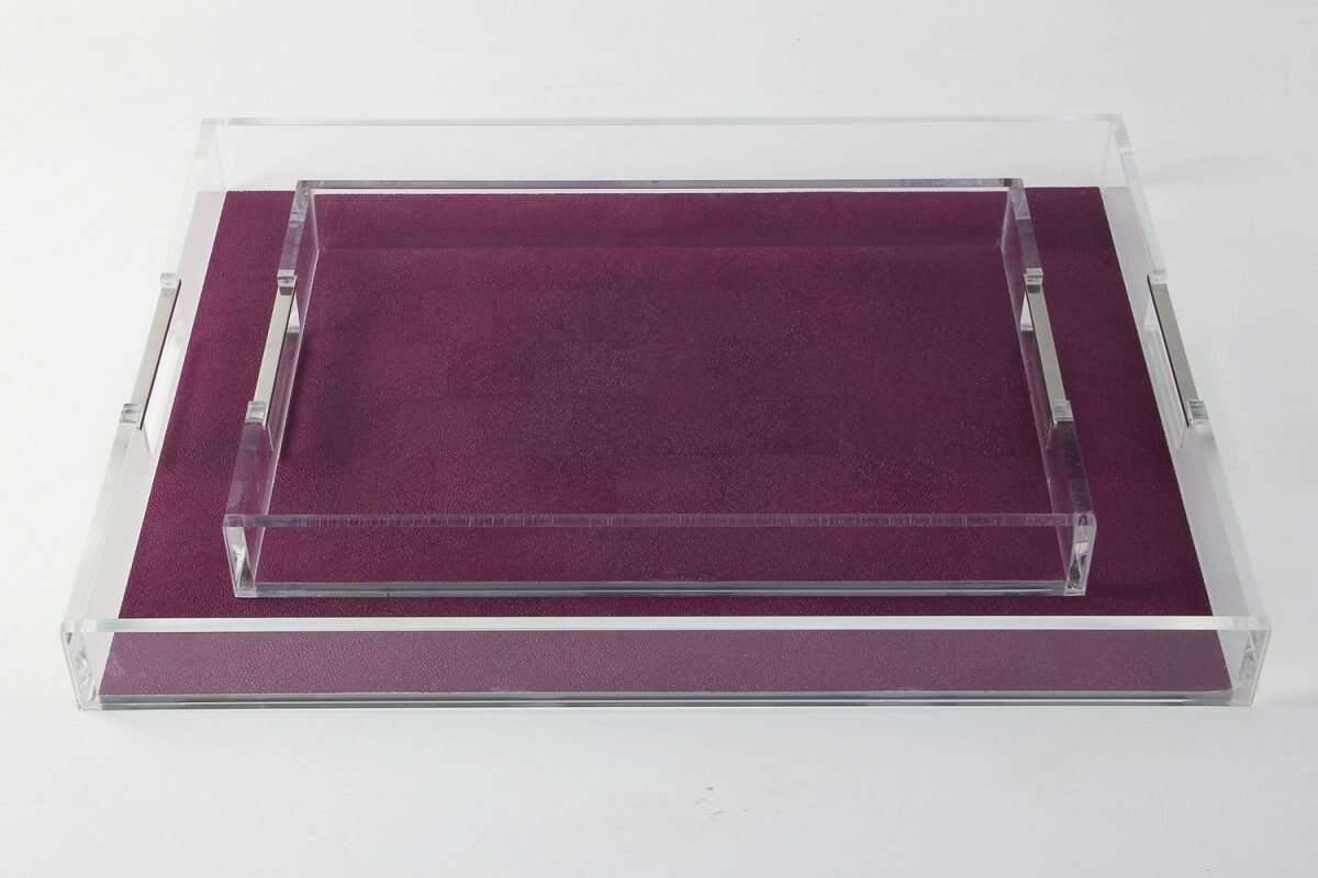 Acrylic Tray in Plum Shagreen by Forwood Design 2