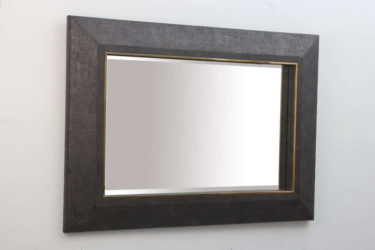 Henry Mirror in Seal Brown Shagreen by Forwood Design 4