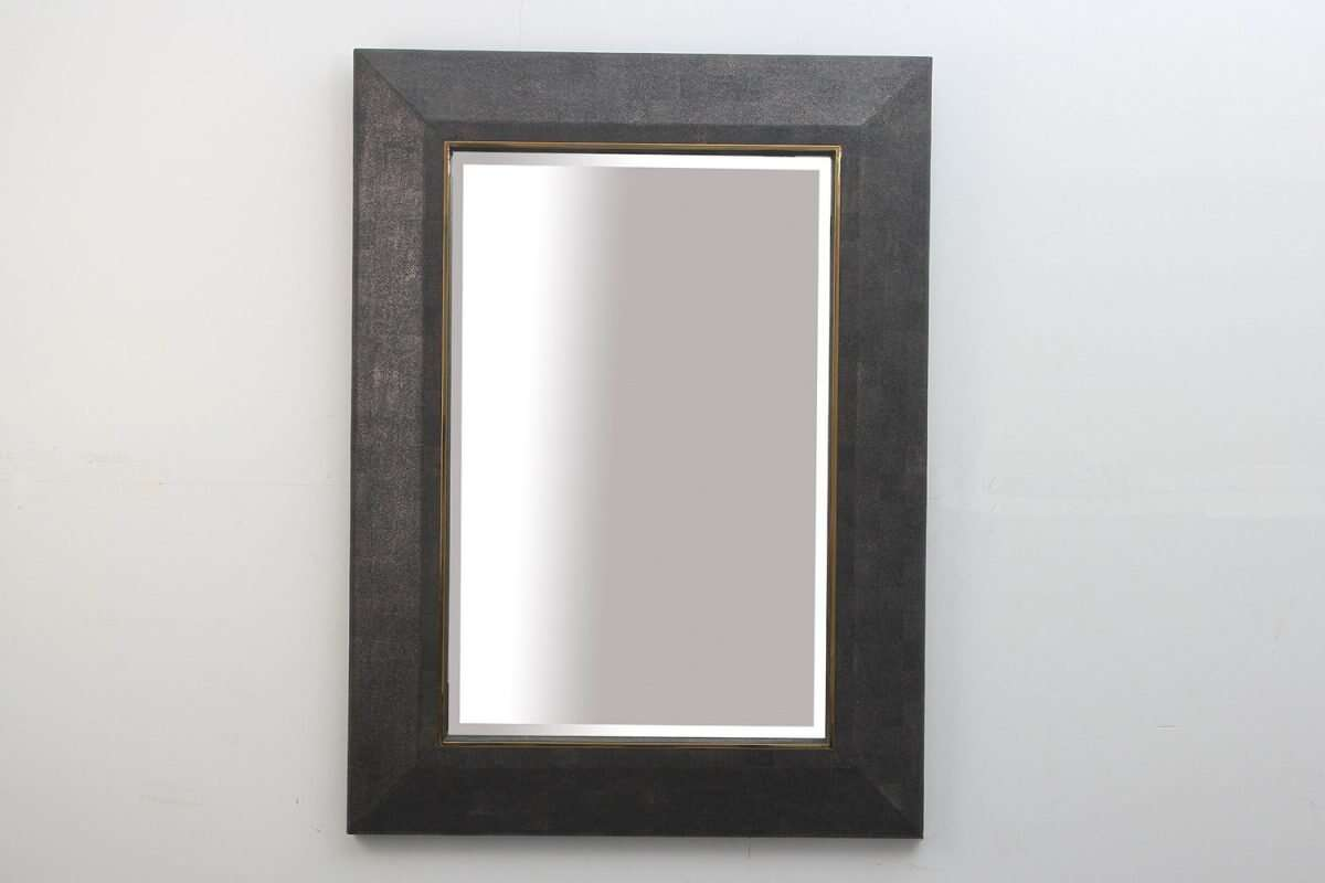 Henry Mirror in Seal Brown Shagreen by Forwood Design 3