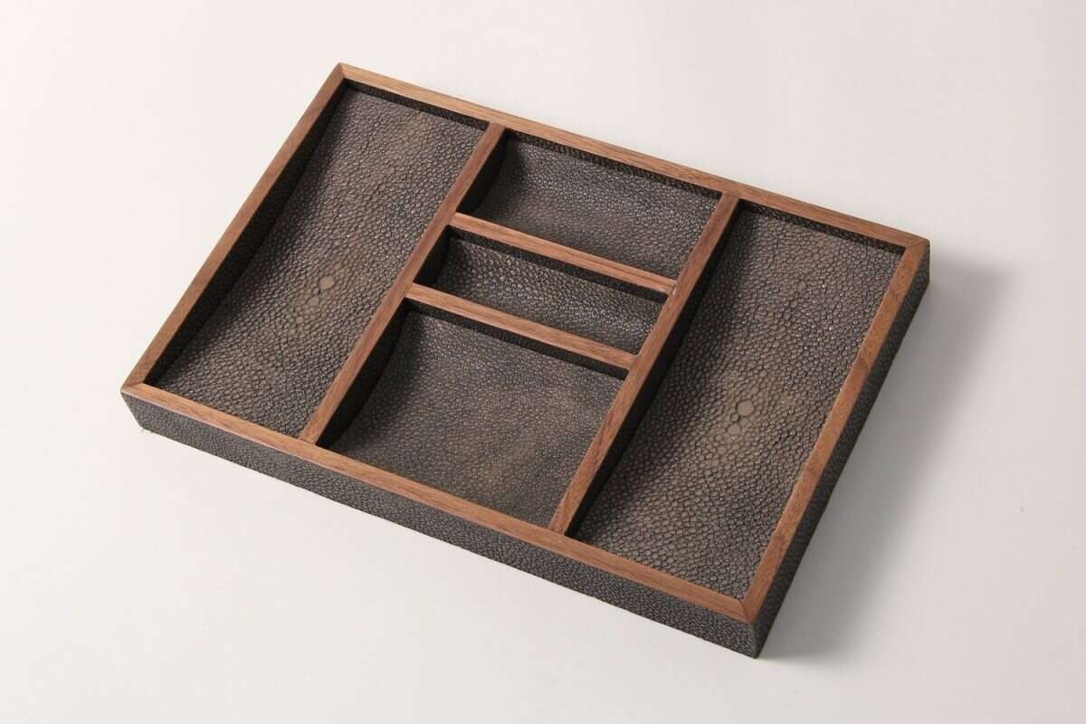 Bevin Valet Tray in Seal Brown by Forwood Design 4