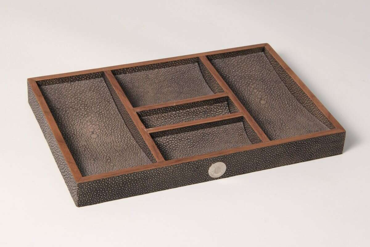 Bevin Valet Tray in Seal Brown by Forwood Design 3