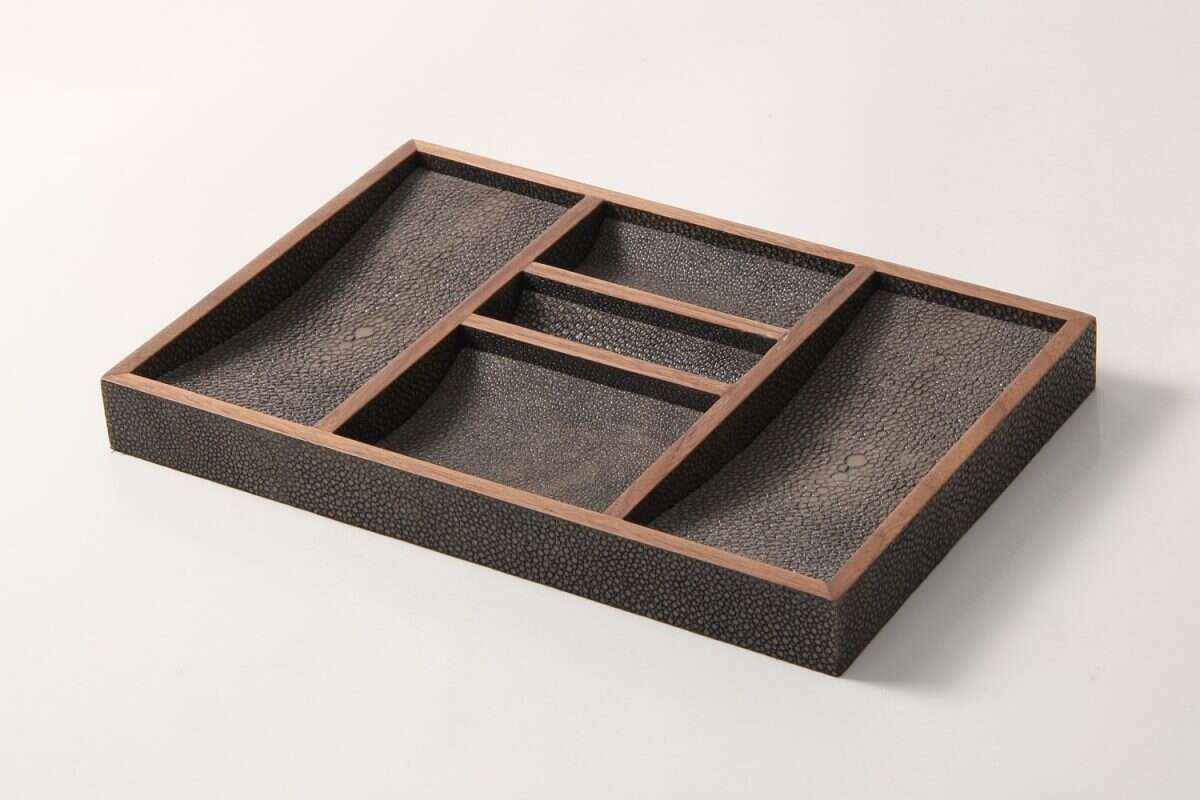 Bevin Valet Tray in Seal Brown by Forwood Design 2