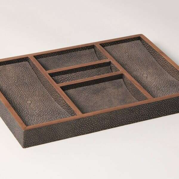 Bevin Valet Tray in Seal Brown by Forwood Design 1