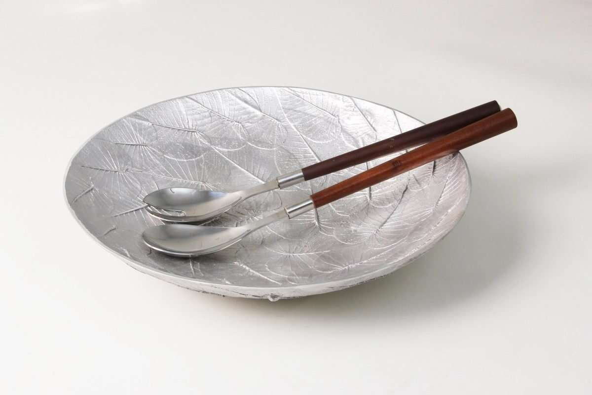 Serving spoons in bowl